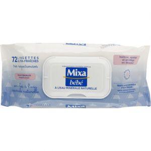 Mixa bébé 72 lingettes à l'eau minérale naturelle
