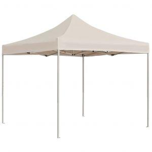 VidaXL Tente de réception pliable Aluminium 3 x 3 m Crème