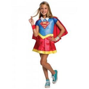 Déguisement luxe Supergirl Super ro Girls fille 3 à 4 ans (104 cm)