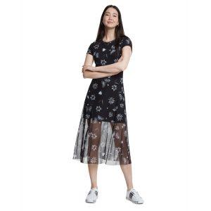Desigual Robe manches courtes à imprimé floral Multicolore - Taille 36