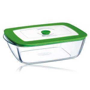 Pyrex Plat carré 4 en 1 Plus en verre avec couvercle (1,5 L)