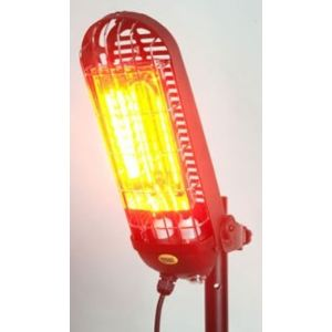 Mo-el 798 - Réglette halogène chauffante pour parasol 800 Watts