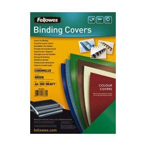 Fellowes 5378403 - Boîte de 100 couvertures à relier Chromolux, A4, vert