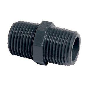 GIRPI Raccord PVC pression noir droit - M 3/4'