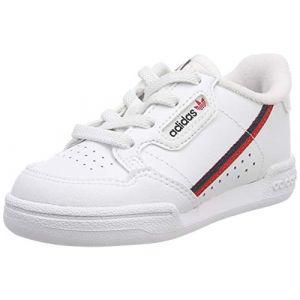 Adidas Continental 80 I, Chaussures de Fitness Mixte Enfant, Blanc (FTW Bla/Escarl/Maruni 000), 23 EU