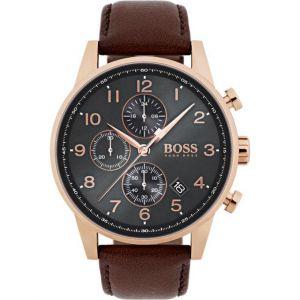 Hugo Boss 1513496 - Montre pour homme avec bracelet en cuir