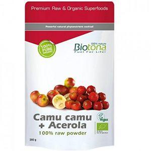 Biotona Mix camu camu et acerola en poudre Bio 200 g