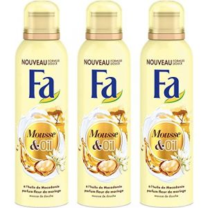 FA Mousse & Oil à l'huile de macadamia parfum fleur de moringa