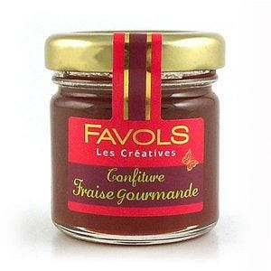 Favols Confiture Fraise Gourmande 42 g - Lot de 10