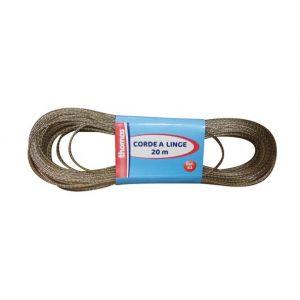 Thomas Corde à linge 20 m en acier plastifié - Corde à linge, Pince à linge, Corbeille à linge