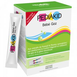 Laboratoires Ineldea Pediakid Bébé Gaz 12 sticks