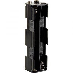 Velleman Support de pile 8x LR6 (AA) BH382B raccord par bouton-poussoir (L x l x h) 108.5 x 31.5 x 29.5 mm