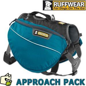 Ruffwear Sac de randonnée pour chien, Chiens de taille moyenne, Taille ajustable, Taille: M, Vert (Meadow Green), Approach Pack, 50102-345M
