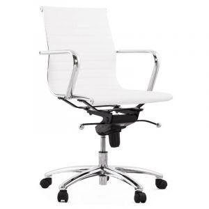 Kokoon Design Chaise de bureau simili blanc