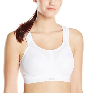 Shock Absorber Sport BH - Soutien-gorge de sport - Brassière - Uni - Femme, Blanc FR:105G (Taille fabricant:90G)