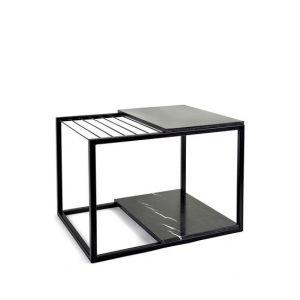 Serax Table d'appoint Hang It Large / Porte-magazines - Marbre / 60 x 47 cm noir en métal