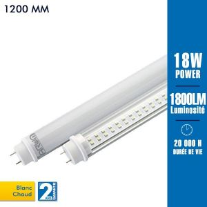 Arum Lighting Tube led T8 120cm 18 watts blanc chaud -