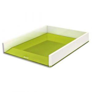 Leitz Corbeille à courrier Dual blanc/vert métallisé