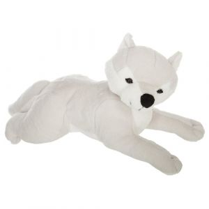Peluche Loup Sleep 40cm Gris - Paris Prix""