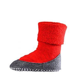 Falke Cosyshoes, Chaussettes Cosyshoe enfants uni, Rouge (Fire), 33-34 (Taille fabricant: 33-34)