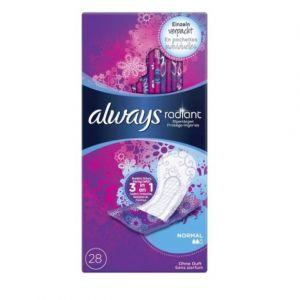 Always Radiant Normal - Protège-Slips Flexibles/Confortables/Micro-Aérés/Pochettes Individuelles