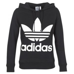 Adidas Sweat-shirt TREFOIL HOODIE Noir - Taille S,M,XS,FR 34,FR 36,FR 38,FR 40,FR 42,UK 10,UK 12,UK 14,UK 16,UK 18,UK 8,UK 6,FR 32,UK 4