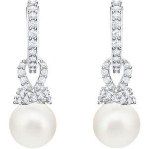 Swarovski Boucles d'oreilles 5461080 - Boucles d'oreilles Argentées Perles Blanches