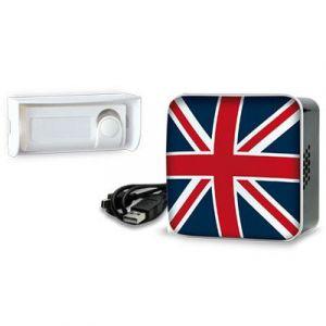 Extel Sonnette sans fil APPLI UK sans fil avec flash - 150 m -