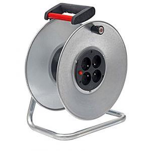 Brennenstuhl 1 20730 1 - Enrouleur de câble Silver Brico, livré VIDE (capacité 50m)