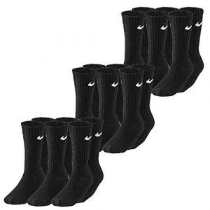 Nike Chaussettes Value Cotton Crew (3 paires) - Noir - Taille XL - Unisex