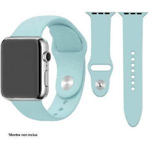 Ibroz Bracelet Apple Watch SoftTouch 44mm bleu ciel