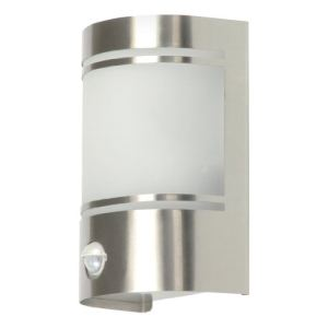 Ranex 5000.299 - Applique Alicnte en inox et verre avec détecteur de mouvement