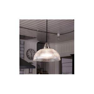 Markslojd Asnen - Suspension dôme en métal chromé et verre strié Ø30 cm