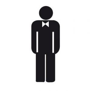 """APLI 00836 - Picto """"Toilettes Hommes"""" adhésif 114 x 114 mm"""