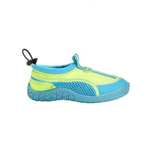 Fashy Chaussures chaussures aquatiques enfants taille : 20-35/2 couleurs de sandales de plage - Vert - grün-türkis, 24 EU