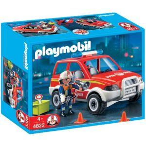 Playmobil 4822 - Jeu de construction - Voiture de pompier