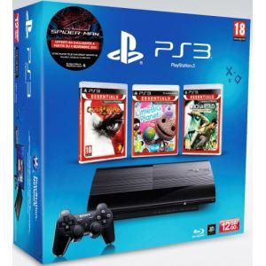 Sony PS3 Ultra Slim 12 Go + Uncharted + Little Big Planet + God of War 3