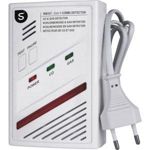 Smartwares Détecteur de gaz RM337 SW secteur monoxyde de carbone, butane, méthane, propane