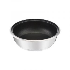 Lagostina Poêle wok Maestria inox antiadhésive Ø26 cm 2,9 L Gris