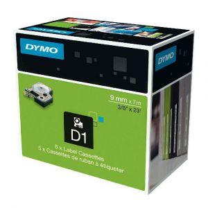 Dymo 40916 - Ruban D1 d'étiquettes noir/bleu 9 mm x 7 m