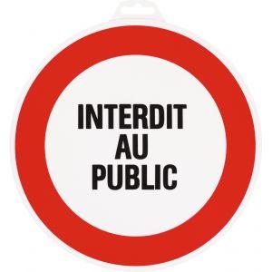 Outibat Panneaux de signalisation ronds Interdit au public