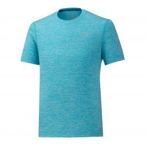 Mizuno Impulse Core Tee Peacock Blue Tee Shirt Running