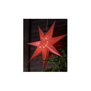 Markslojd Gulli - Étoile lumineuse en papier à suspendre vichy rouge (75 cm)