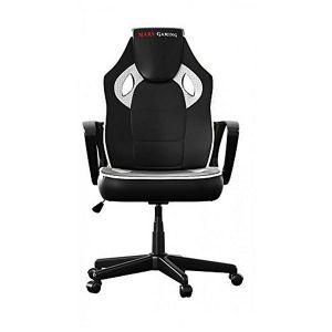 Tacens Chaise de jeu MGC0BW Metal PVC Blanc Noir
