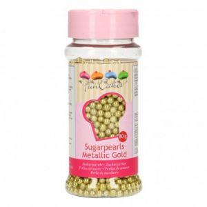FunCakes Perles de sucre - dorée - 80g