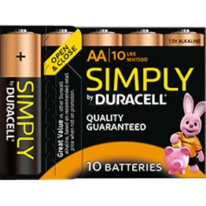 Duracell 10 Piles Alcaline Simply AAA