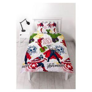 Parure de lit réversible Marvel Comics Mission Avengers (140 x 200 cm)