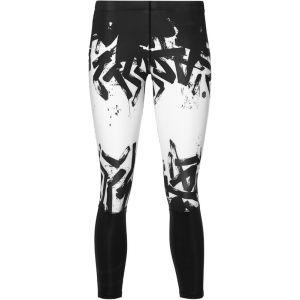 Asics 7/8 Tights - Short running Femme - blanc/noir S Collants & Shorts Running