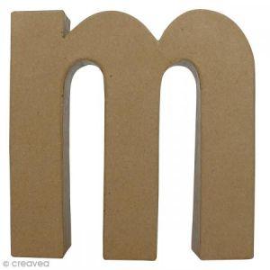 decopatch AC406O - Lettre M fantaisie minuscule, en papier mâché
