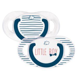 Bébé Confort 2 sucettes silicone Natural Physio Little Boy 0-6 mois